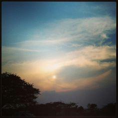 #meherabad #sky #silhouette #sun #sunset #dusk #eye #colours #tree