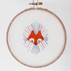 Modern Granny Craft: Little Fox Embroidery- free pattern!