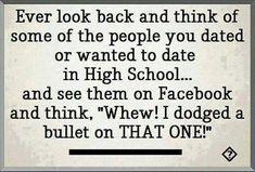 High school sweethearts on Facebook