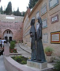 Statue of Mary and Elizabeth at Church of The Visitation, Jerusalem