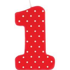 Ladybug Fancy Candle Molded 1st Birthday/Case of 6