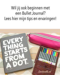 Wil jij ook beginnen met een Bullet Journal? Lees hier mijn tips en ervaringen! Op deze pagina geef ik meer informatie over Bullet Journal en vertel ik mijn ervaringen hiermee.