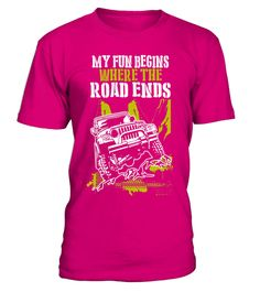"""# Off-road driver T-Shirt - My Fun Begins Where The Road Ends .  Special Offer, not available in shops      Comes in a variety of styles and colours      Buy yours now before it is too late!      Secured payment via Visa / Mastercard / Amex / PayPal      How to place an order            Choose the model from the drop-down menu      Click on """"Buy it now""""      Choose the size and the quantity      Add your delivery address and bank details      And that's it!      Tags: Funny Off-road driving…"""