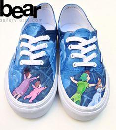 Custom Vans Hand Painted Shoes - Peter Pan