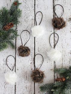 Diy Christmas Ornaments, Christmas Themes, Christmas Holidays, Christmas Decorations, Holiday Ideas, Xmas, Woodland Christmas, Rustic Christmas, White Christmas