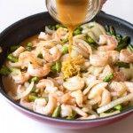 Lemon Shrimp & Asparagus Stir Fry