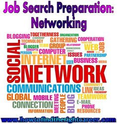 Job Search Preparation-Networking is a key component to preparing for your job search. If you've ever heard it said that it's not what you know but who, then you've heard a reference to networking. Although you may know about the importance of networking, you might not know where to begin, or how to go about it. Here are some networking tips for your job search preparation....READ MORE http://www.howtofindtherightcareer.com/job-search-preparation-networking/