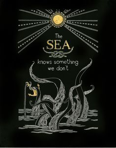 Illustration 2-Quote from this video.   Scratchboard with gold leaf paint.