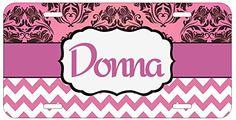Personalized Monogrammed Chevron Damask Pink Car License Plate Auto Tag Top Craft Case http://www.amazon.com/dp/B00OMQAZBM/ref=cm_sw_r_pi_dp_bYotub038J6AT