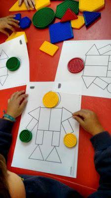 Blogue do Jardim Escola Carrocel: Blocos Lógicos Sorting Activities, Activities For Kids, Cute Kids Crafts, Montessori Room, Toddler Learning, Sensory Bins, Fine Motor Skills, Pre School, Best Part Of Me