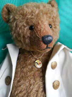 """20"""" brown mohair bear Lily Bear Belgium by Liliane Vandepaepeliere"""
