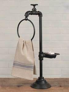 Soap torneira e toalha titular