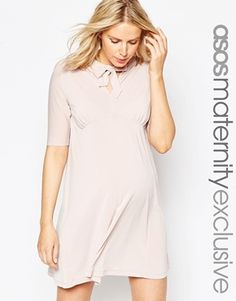 ASOS Maternity Swing Dress With Pussy Bow