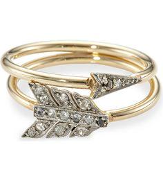 Annina Vogel Diamond Arrow Ring, $3,443.63 | 45 Engagement Rings Inspired By Disney Princesses