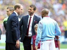 Prince William talks to the manager of Aston Villa after the game. Aston Villa, Fa Cup, British Isles, Prince William, Couple Photos, Game, Cambridge, Royalty, Couple Shots