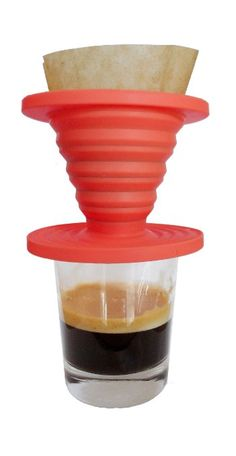 Amazon.com: Kuissential SlickDrip - Collapsible Silicone Coffee Dripper, Filter Cone: Coffeemaker Accessories: Kitchen & Dining