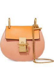 Drew nano textured-leather shoulder bag
