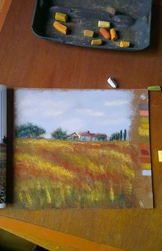 Daily painting. Soft pastels painting.