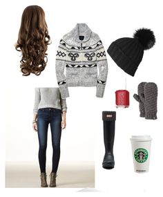 """""""For Marra"""" by loulou202 on Polyvore featuring American Eagle Outfitters, TNA, Hunter, Barts and Essie"""