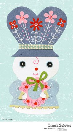 Snow woman designed by Linda Solovic