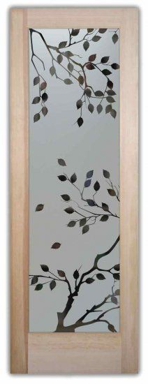 Frosted Glass Doors Etched Glass Cherry Tree Door by Sans Soucie for the sliding bathroom door.
