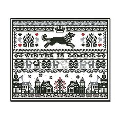 Game of Thrones Stark Sampler Chart/Pattern for Cross by AdLeones
