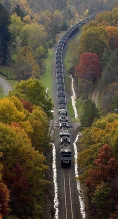 Keystone Coal Train by Norfolk Southern.love train tracks in the fall. Train Tracks, Train Rides, Locomotive, Diesel, Bonde, Norfolk Southern, Train Pictures, Old Trains, Paris Hotels