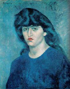 Pablo Picasso, Portrait of Suzanne Bloch, Blue Period