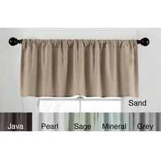 Top off any window in style with this tailored window valance. This rod-pocket valance is crafted from 100 percent linen for lasting beauty and performance and is available in a range of solid colors to match your existing decor with ease.
