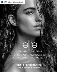 #Repost @elite_amsterdam with @repostapp  Elite Amsterdam is looking for new faces!  If you are between the age of 14-25  With a height between 1.74M - 1.82M  Come to our open casting on 15-4-2016  At our office at the Keizersgracht Amsterdam  See you then and maybe youre our new Elite star  Dont forget to tag your friends  Model on the photo: @robinmarjolein  Photo by: Mauro Da Silva   #elite #elitemodels #eliteamsterdam #elitearmy #beelite #elitegirlsdoitbetter #soproud #loveourgirls…
