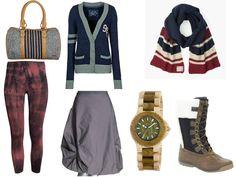 roxy bag summum skirt h&m leggings edc cardigan we wood watch helly hansen boots tommy hilfiger scarf