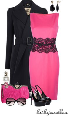 """Lovely in Pink"" by bitbyacullen ❤ liked on Polyvore"