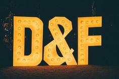 Giant word classic daniel n fabianne wedding