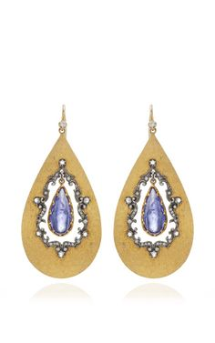 One Of A Kind Tanzanite Windshime Earrings by Arman Sarkisyan for Preorder on Moda Operandi