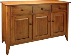 Amish Chateau Buffet - This Amish Chateau Buffet is a convenient addition to your dining room and features plenty of accessible storage space