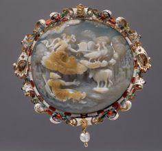 Cameo: Jupiter and Io:     Milan, Prague,    4th Quarter 16th Century or in 1600, 1600/08