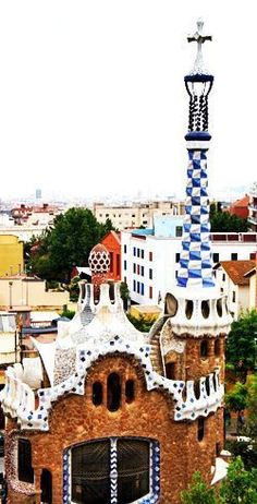 Park Guell by Antoni Gaudi in Barcelona Spain