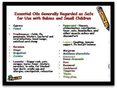 Oils to use with children.