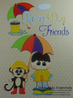 Rainy Day Friends boy Paper piecing set :) by scrappintoday