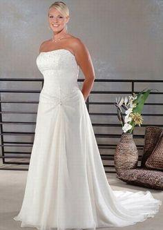 Beach Wedding Dresses Plus Size | plus size beach wedding gowns company [w00340] - $120.00 : Cheap plus ...