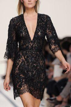 stunning black dress.