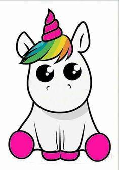 kawaii and cute stuff kawaii Unicorn Drawing, Unicorn Art, Cute Unicorn, Rainbow Unicorn, Cartoon Unicorn, Unicorn Horse, Beautiful Unicorn, Unicorn Makeup, Baby Unicorn