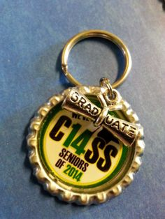 Class of 2014 Graduation Keychain or Zipperpull by tracikennedy, $6.00