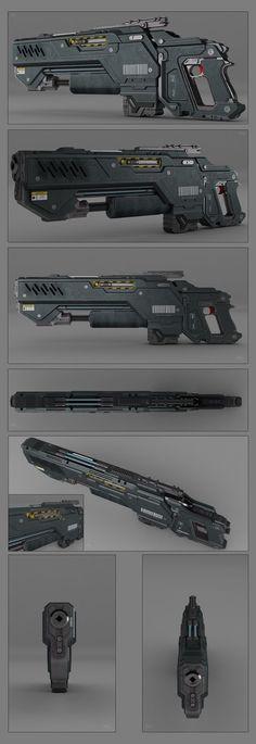 Battle rifle concept by peterku on deviantART: