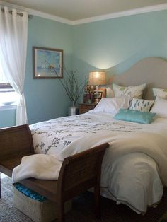 Coastal Bedroom Ideas – If you think coastal design close to anchors, blue and white, and seashells. You refer the name to exactly what it . Modern Country Bedrooms, Coastal Bedrooms, Modern Bedroom Lighting, Modern Bedroom Decor, Mid Century Modern Bedroom, Modern Master Bedroom, Bedroom Ideas Pinterest, Weathered Furniture, Bedroom Colors