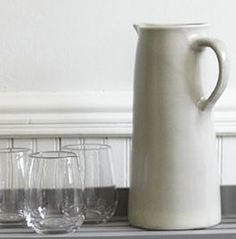 stoneware jug + artisanal wine glasses | the new general store
