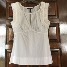 BCBG blouse - size XXS BCBG MaxAzria blouse - size XXS. May fit XS, too. Maybe worn once. No flaws. Goes with everything!  Open to reasonable offers. BCBGMaxAzria Tops Blouses