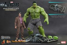 The Avengers Movie Masterpiece Action Figure 2-Pack 1/6 Bruce Banner & Hulk - The Movie Store