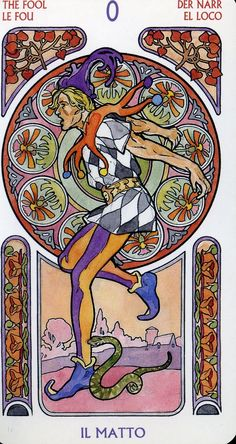 The Fool - art nouveau tarot