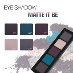 Inglot Matte It Be collection for Fall 2015 - EYE SHADOW Palette